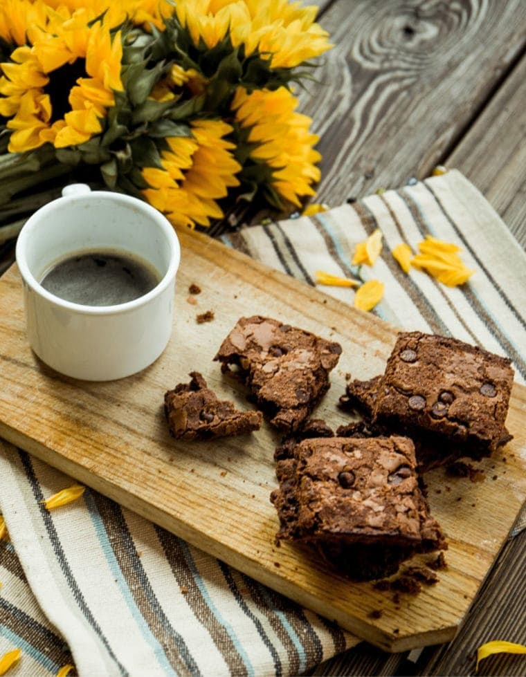 Easy Pumpkin Cream Cheese Brownies + The Health Benefits of Coffee