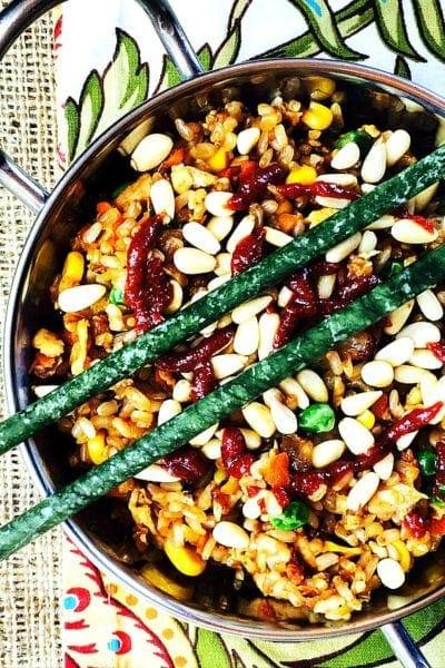 Quick and Easy Chicken & Veggie Gluten Free Stir Fried Rice
