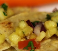 Kids in the Kitchen…Quesadillas with Homemade Pineapple Salsa.