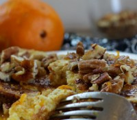 French Toast with Pecans, Coconut, and Orange Sauce and, a Tale of Two Mornings…