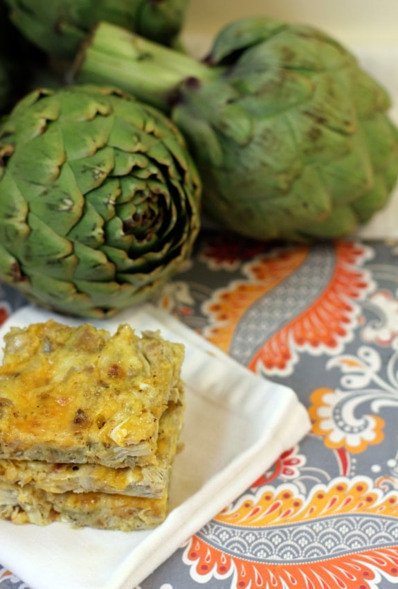 Artichoke Squares // The Spicy RD