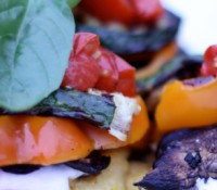 Recipe ReDux: Grilled Polenta Veggie Stacks with Balsamic Cherry Tomatoes