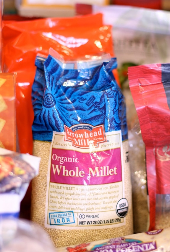 millet nutrition - bag of organic millet