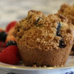 Glorious Gluten Free Blueberry Muffins w/ Streusel Topping