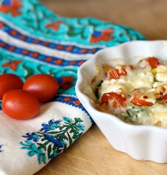 Cilantro, Tomato, Green Onion Baked Eggs