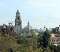 Balboa Park and the downtown San Diego skyline.