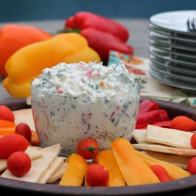 Creamy Triple Pepper & Kale Dip//The Spicy RD