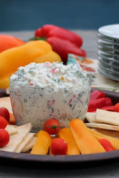 Creamy Triple Pepper Kale Dip