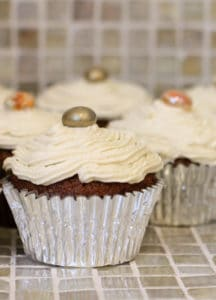 Gluten Free Pumpkin Spice Cupcakes with Maple Buttercream Frosting