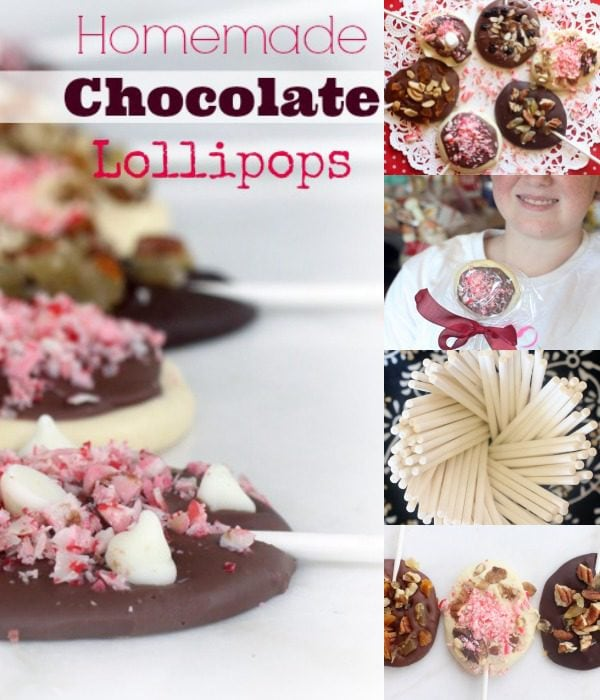Easy Homemade Chocolate Lollipops | Homemade Holiday Gifts and Desserts | Gluten Free and Kid Friendly Recipe @thespicyrd