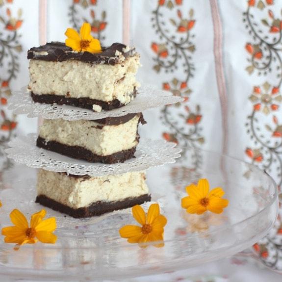 Bailey's Irish Cream Chocolate Covered Cheesecake. Recipe is gluten free and SO delicious!
