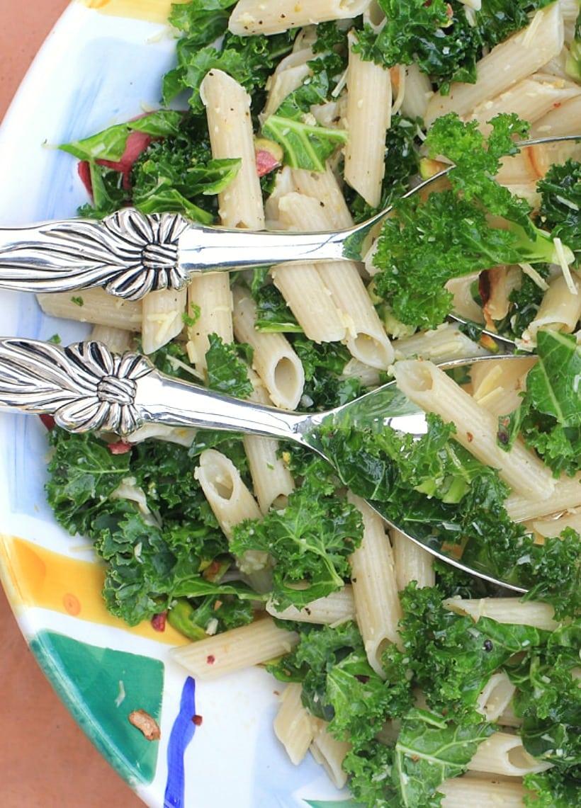 Lemony Kale Pasta Salad