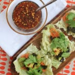 Sea Veggie Tacos with Asian Sesame Dipping Sauce