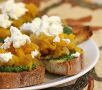 pumpkin pesto bruschetta