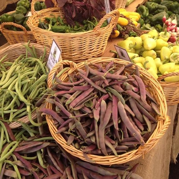 Green Beans at the Hillcrest Farmer's Market