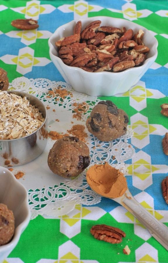Raw Oatmeal Cinnamon Raisin Maple Pecan Cookie Dough {Part One}