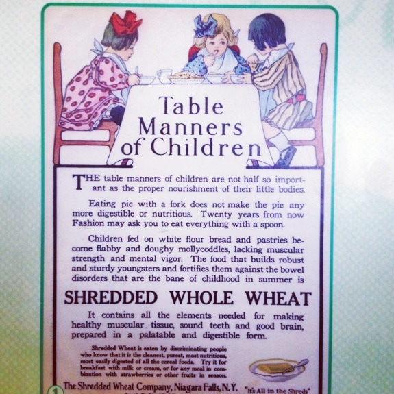 old advertisement for shredded wheat