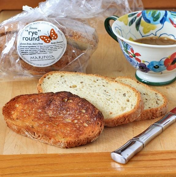 Faux rye gluten-free bread from Mariposa Baking Company