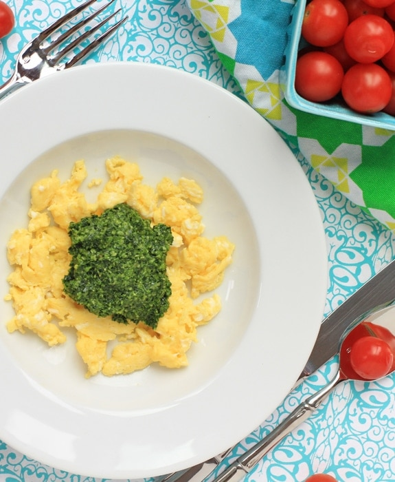green eggs and cherry tomatoes