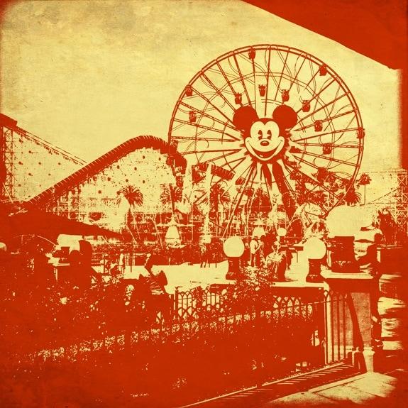 Mickey Mouse Ferris Wheel at California Adventures