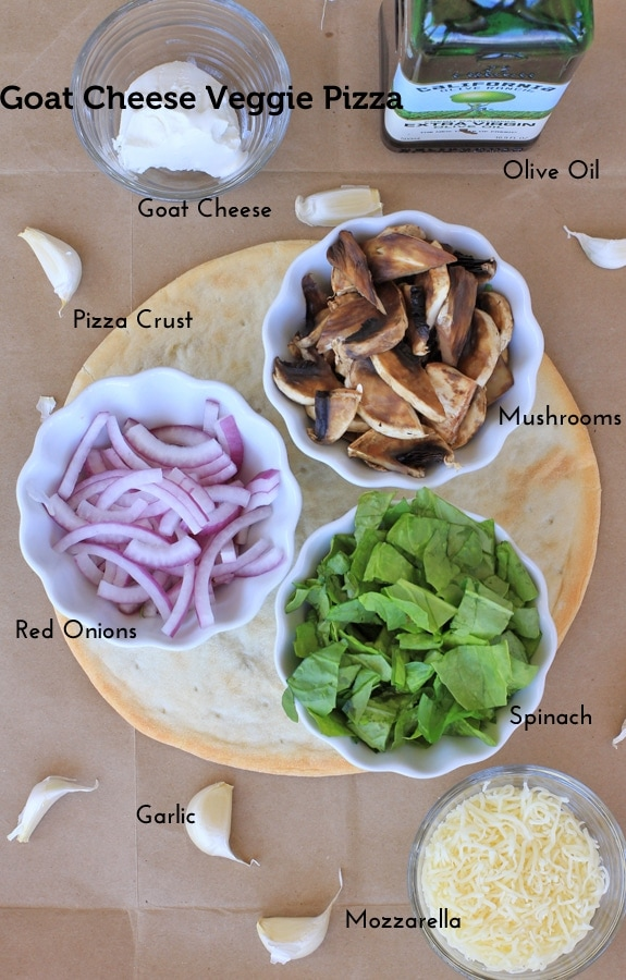 pizza toppings and pizza crust