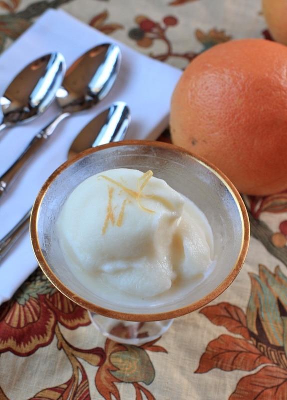 grapefruit sherbet