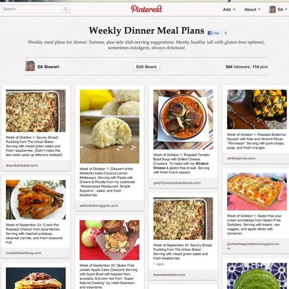 Spicy RD WEekly Meal Plan Week of October 1, 2012