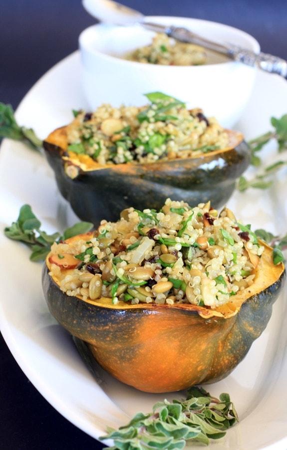 Quinoa Stuffed Acorn Squash Recipe — Dishmaps