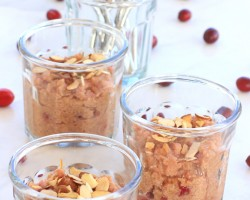 Cranberry Orange Quinoa Pudding with Toasted Almonds