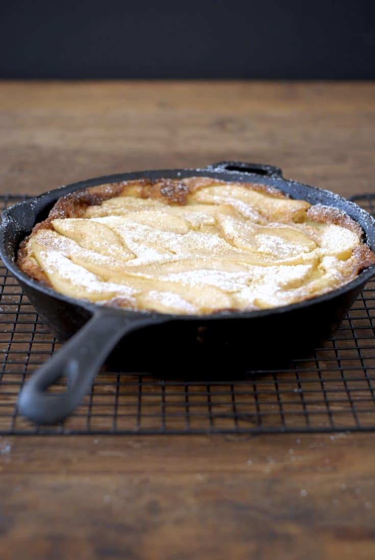 You'll love this easy Gluten Free Dutch Baby with Cinnamon Sugar Spiced Pears, from Fast and Simple Gluten-Free.