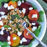 Roasted Beet Salad with Goat Cheese & Toasted Nuts