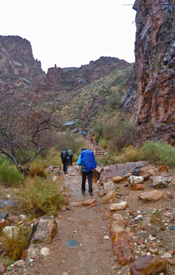 Hiking up the Bright Angel Trail, Grand Canyon