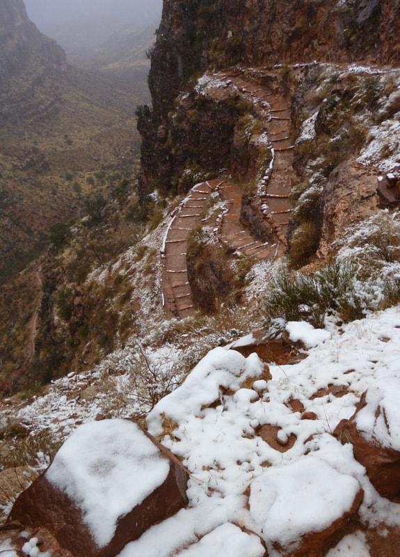 Bright Angel Trail, Grand Canyon, switchbacks.