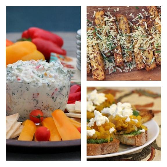Super Bowl Snacks~Kale Dip, Rosemary Parmesan Fries, & Pumpkin Pesto Bruschetta
