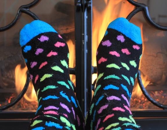 Warm fuzzy socks