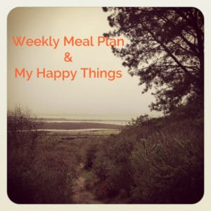 Weekly Meal Plan & My Happy Things: A Sprouting Garden, Kid's Art, & More!