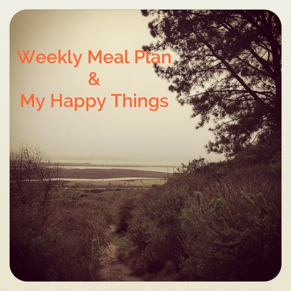 Weekly Meal Plan & My Happy Things//The Spicy RD