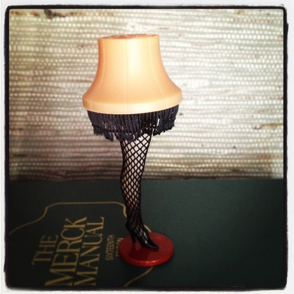 Mini Leg Lamp from A Christmas Story