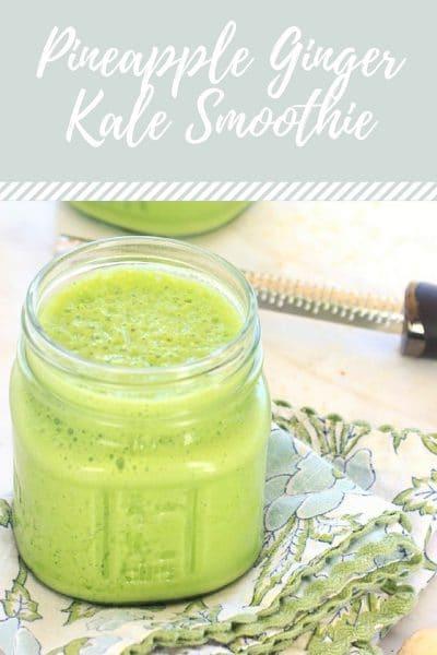 5-Ingredient Ginger Pineapple Kale Smoothie