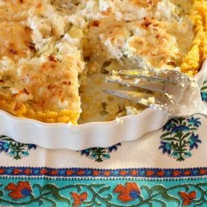 Artichoke Rosemary Tart with Polenta Crust