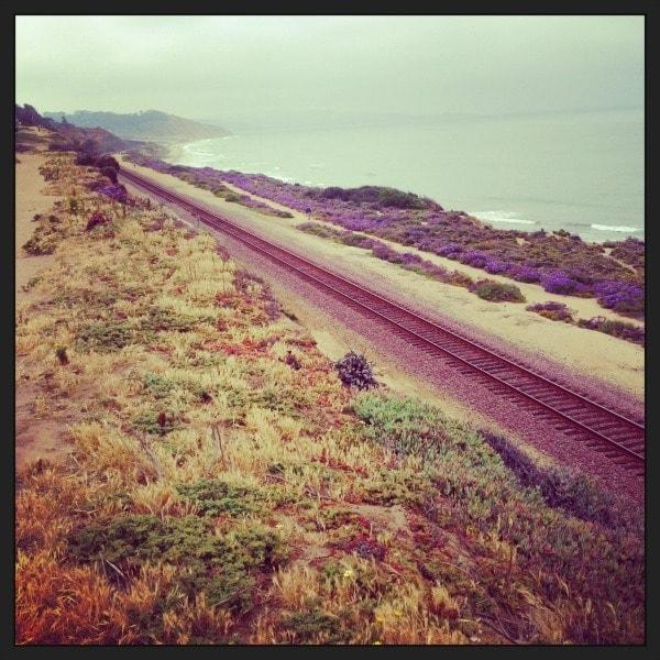 Del Mar Beach Train Tracks