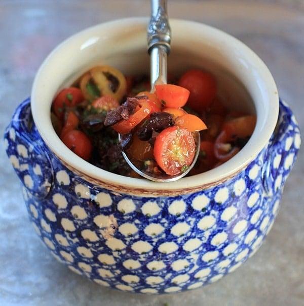 Greek Salsa with Tomatos and Fresh Oregano