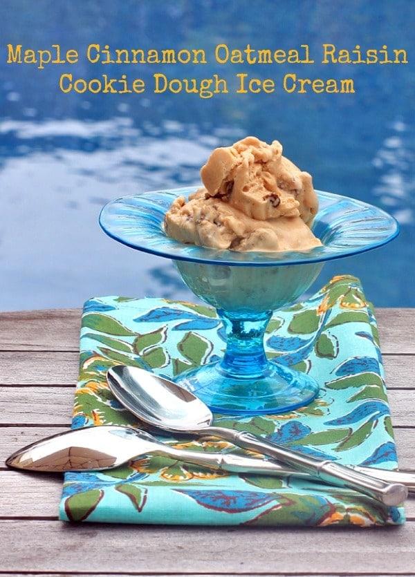 Maple Cinnamon Oatmeal Ice Cream//The Spicy RD
