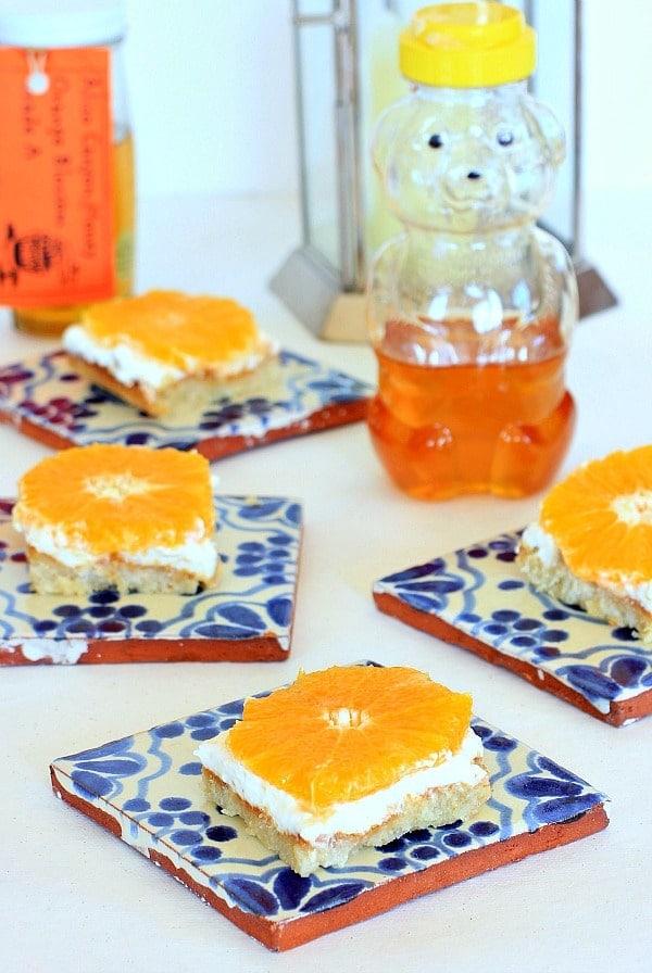 Orange Honey Cheesecake Bars // The Spicy RD