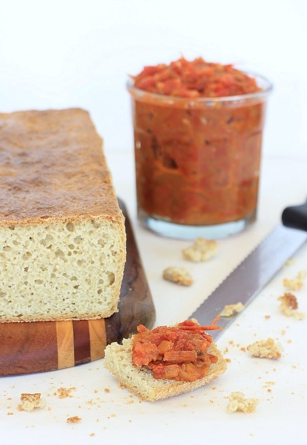 Bacon-Tomato Jam and Homemade Gluten-Free Bread // The Spicy RD
