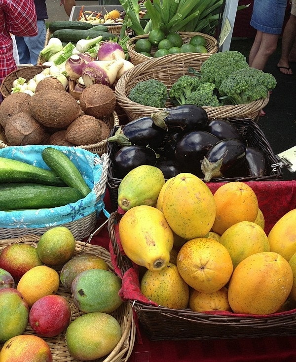 Fruits and Veggies at the Waimea Farmers Market, The Big Island, Hawaii // The Spicy RD