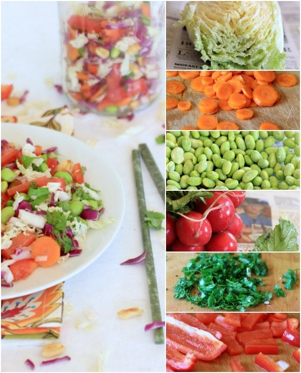 Asian Cabbage Salad Ingredients // The Spicy RD
