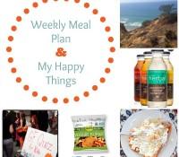 Weekly Meal Plan & My Happy Things: Veggie Burger Love, Herbal Iced Tea, & More!