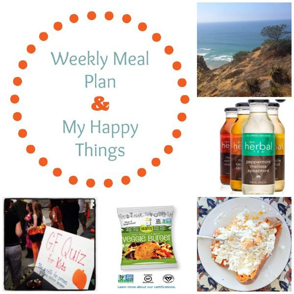 Weekly Meal Plan & My Happy Things Oct 28 // The Spicy RD
