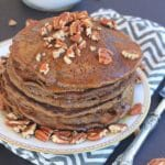 These homemade Gluten Free Gingerbread Pancakes and Gingerbread Pancake Mix will spread delicious cheer throughout anyone's kitchen this holiday season, and all year long!
